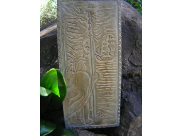 Sailing Away King Kamehameha Hand Carved Storyboard