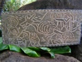 Across Molokai Channel King Kamehameha Hand Carved Storyboard