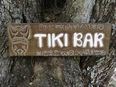 Tiki Bar Tiki Sign W Petroglyph Surf Decor