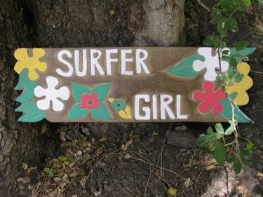 Surfer Girl Surf Sign Roxy 24 Surfing Decor