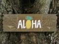 Aloha Pineapple Antique Finish 24 Tiki Sign Bar Decor