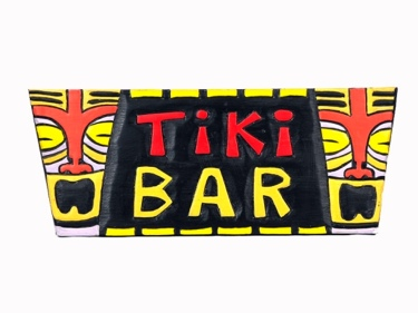 Tiki Art Pop Art Tiki Bar Sign 20 Tiki Bar Decor