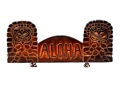 Welcome Tiki Sign Aloha 20 Antique Finish