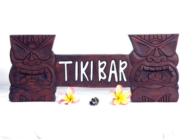 Tiki Tiki Bar Sign 20 Tropical Decor