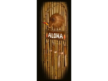 Tiki Bar Wind Chime 40 Bamboo Tropical Relaxation