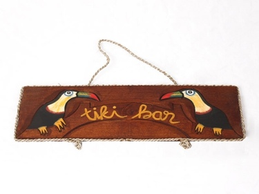 Parrot Tiki Bar Sign 20 Nautica Pirate