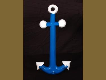 Anchor Hanger 22 Blue And White Coastal Decor