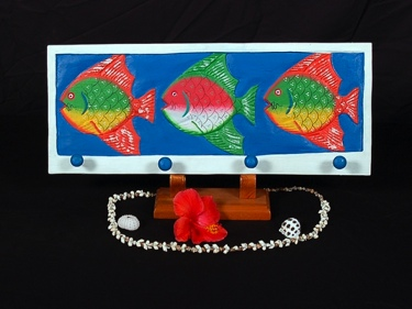 Colorful Fish Hanger 20 Coastal Decor