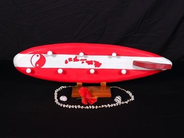 Surfboard Hanger 26 Red Hawaiian Island
