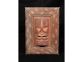 Framed Tiki Mask 22 X 15 Island Decor