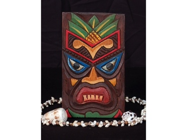 Tiki Shield 8 Tiki Mask Wall Plaque Decor