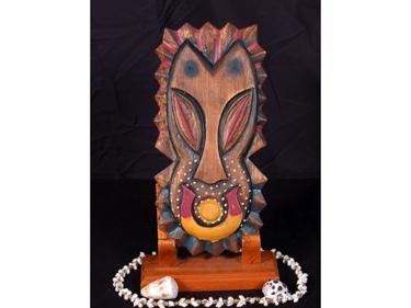 Tiki Shield 12 Tiki Mask Wall Plaque Decor
