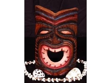 Carved Tiki Mask 8 Happy Tiki Tiki Decor