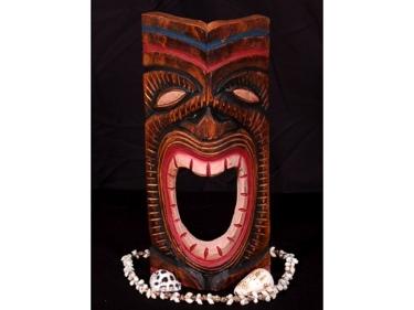 Carved Tiki Mask 12 Happy Tiki Hawaii Decor