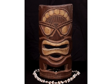 Carved Polynesian Tiki Mask 12 Hawaii Decor