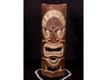 Polynesian Carved Tiki Mask 20 Hawaiian Decor