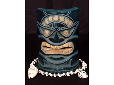 Carved Polynesian Tiki Mask 8 Hawaii Decor