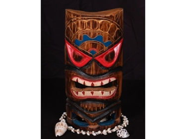 Carved Polynesian Tiki Mask 12 Beach Decor