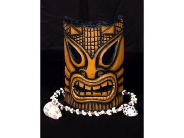 Carved Polynesian Tiki Mask 8 Tropical Decor