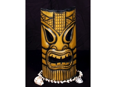 Carved Polynesian Tiki Mask 12 Tropical Decor