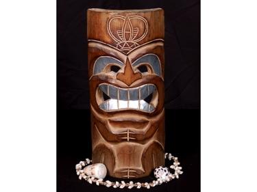 Carved Polynesian Tiki Mask 12 Tropical Decor