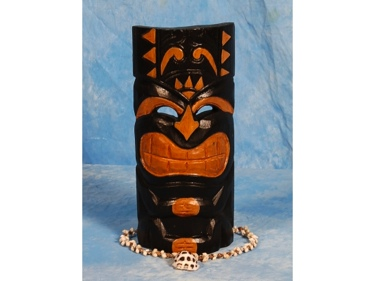 Carved Polynesian Tiki Mask 12 Art Deco