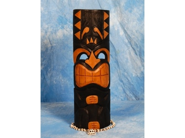 Polynesian Carved Tiki Mask 20 Art Deco