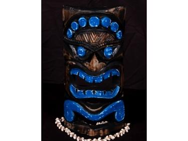 Carved Polynesian Tiki Mask 12 Coastal Decor