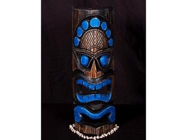 Polynesian Carved Tiki Mask 20 Coastal Decor