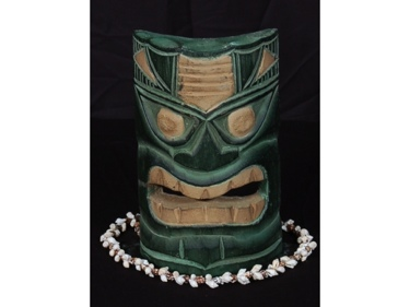 Carved Polynesian Tiki Mask 8 Forest Decor