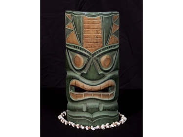 Carved Polynesian Tiki Mask 12 Forest Decor