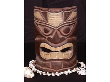 Carved Polynesian Tiki Mask 8 Oceanic Art