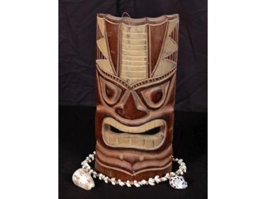 Carved Polynesian Tiki Mask 12 Oceanic Decor