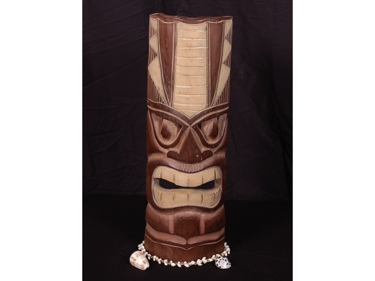 Polynesian Carved Tiki Mask 20 Oceanic Decor