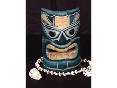 Carved Polynesian Tiki Mask 8 Oceanic Art