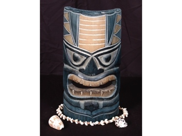 Carved Polynesian Tiki Mask 12 Oceanic Decor