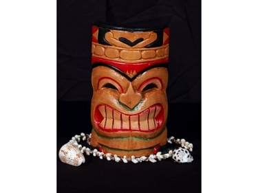 Carved Polynesian Tiki Mask 8 Pop Art Tiki