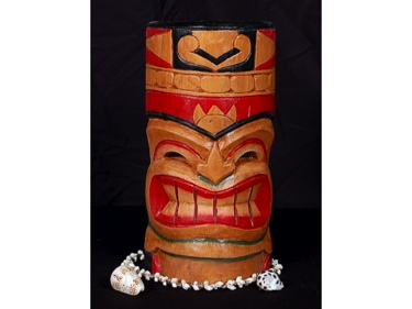 Carved Polynesian Tiki Mask 12 Pop Art Tiki Decor