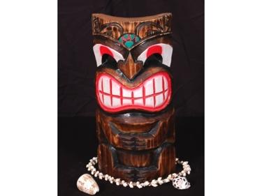 Smiley Tiki Mask 12 Pop Art Tiki Decor