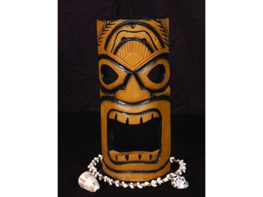 Smokin' Tiki Mask 12 Pop Art Tiki Decor