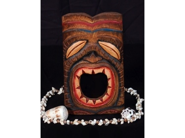 Tiki Mask 8 Wall Plaque Art Deco