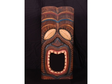 Tiki Mask 20 Wall Plaque Art Deco