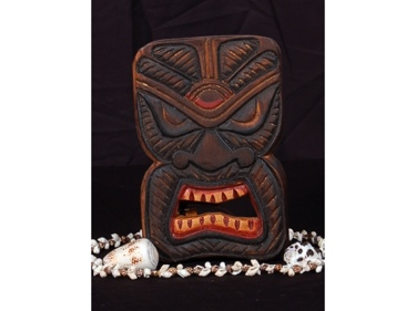 Tiki Mask 8 Wall Plaque Evil Spirit Hunter