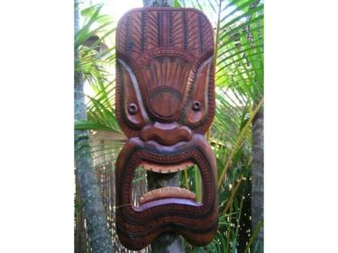Tiki Mask 12 Wall Plaque Ocean Tiki Island Decor Tropical