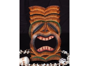 Tiki Mask 8 Wall Plaque Big Kahuna Island Decor Tropical