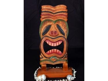 Tiki Mask 12 Wall Plaque Big Kahuna Island Decor Tropical