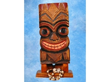 Smiley Tiki Mask 12 Wall Plaque Tropical Decor