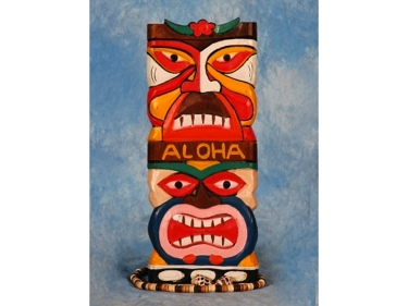 Tiki Mask 12 Wall Plaque Colorful Tiki