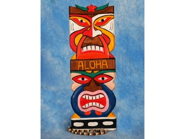 Tiki Mask 20 Wall Plaque Colorful Tiki