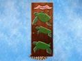 Hawaiian Turtles Relief 20 Carved Painted Oceanic Art